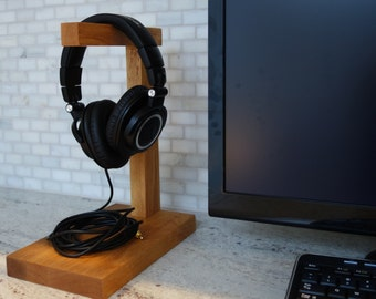 Wood Headphone Stand | The Classic | Headphone Holder | Headset Stand | Headset Holder