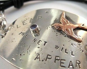 Leap And The Net Will Appear - Recycled Sterling Silver Bracelet