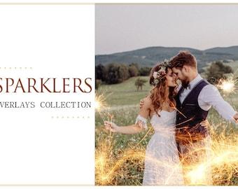80 Wedding Sparklers Photoshop Overlays: Long Exposure Photo layer, Light painting words, shapes, Freezelight Effect, Birthday mini Sessions