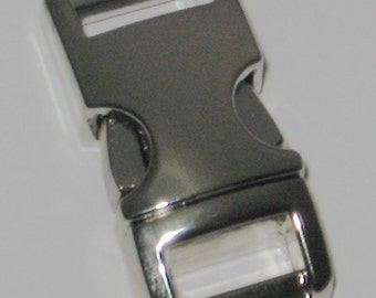 """10 count Metal Buckles 3/8"""" for making paracord bracelets color: Silver tone/Chrome plated"""