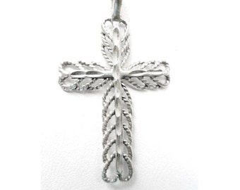 Vintage 925 Sterling Silver  Filigree Cross Pendant