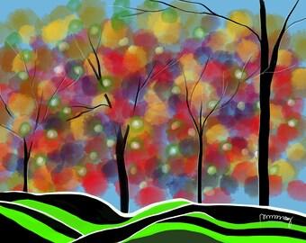 Abstract Autumn Blush