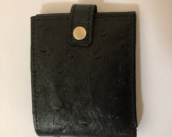 + Genuine ostrich leather tickets wallet card