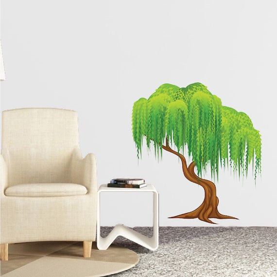 Weeping Willow Tree Wall Decal by PrimeDecal