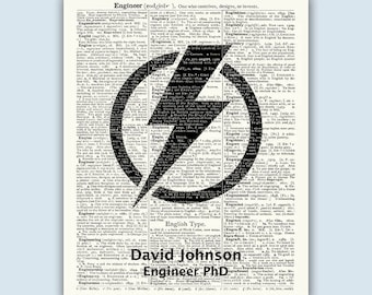 Electrical Engineer Gift, Personalized Engineer Gift, Engineer Graduation, Engineering Graduation, Graduation Decor, Electrical Engineering