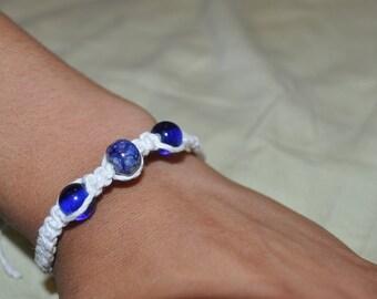 Ocean Blue Hemp Bracelet