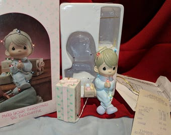 May Your Christmas Be Delightful Precious Moments by Enesco 558125 1987