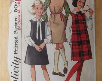 1950s-60s Simplicity Girls Jumper Blouse Pattern