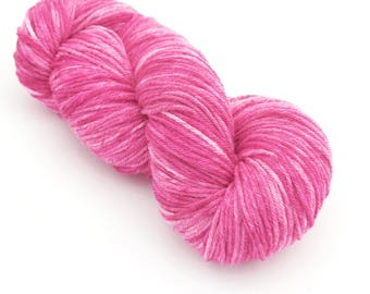 So Pink - 3/4 Skein - DK Holistic Merino Hand Painted Yarn