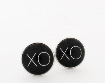 XOXO Boyfriend Gift, Boyfriend Cufflinks, Husband Cufflinks, 1st Anniversary Gift For Husband, Steel Anniversary Gift for Him, Valentine Day