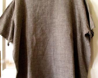 Flax Linen Top, L, Oversize