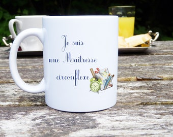 Mug with personalized Mug mistress, humor, circumflex centerpiece, original and customizable Mug, gift, ceramic mug