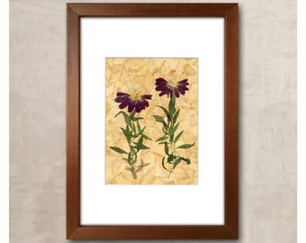 Dried Flower Art Flower Decor Pressed Flowers Pressed Flower Art Pressed Flower New Home Present Home Wall Art New House Gift Housewarming