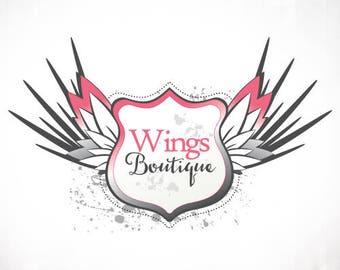 Vorgefertigtes Logo Design • Grunge Flügel