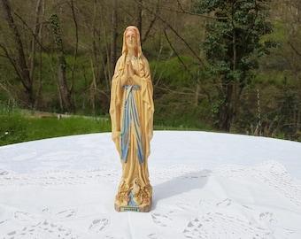 Lourdes French  vintage holy Mary figurine, virgin Mary statue from Lourdes ,resin  figurine  Lourdes souvenir vintage