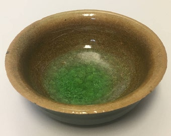 Black and Green Jewelry Bowl