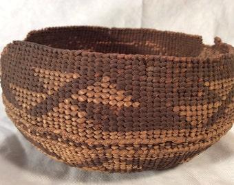 "Native American Indian Basket  6"" wide"