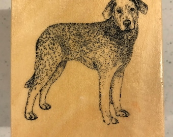 Lab Labrador retriever dog wood mounted rubber stamp