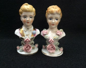 Vintage Bust Salt and Pepper E245