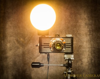 Table / Bedside Lamp (up-cycled 1930's camera)