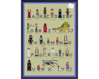 Star Wars Superhero Alphabet Cross Stitch sampler DIGITAL PDF (pattern only) Unofficial Inspired by The Force Awakens