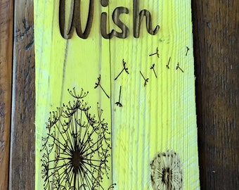 Make a wish on wood