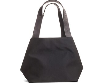 black canvas tote bag - black canvas bag - small canvas bag - small shoulder bag - black evening bag - fabric bags purses - CFS2L
