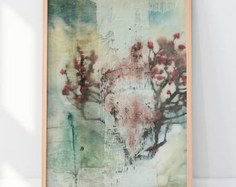 Art Print Cherry Encaustic