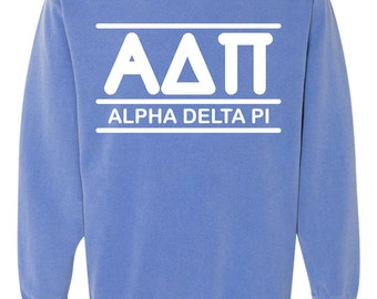 Alpha Delta Pi, Alpha Delta Pi Sweatshirt, big little shirts, sorority sweatshirt, greek sweatshirt, sorority apparel, greek apparel, adpi