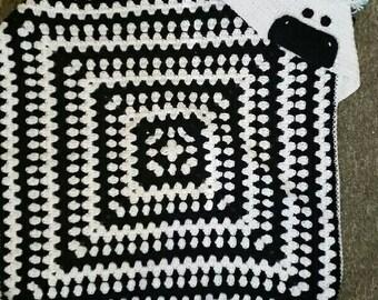 Zebra Hooded Blanket