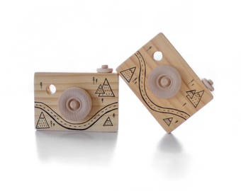 Little Adventures Hand Illustrated Mountain Forest Wooden Toy Camera