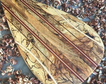 Spalted Mango Wooden Outrigger Canoe Paddle