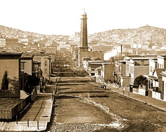 "1864 First Street, San Francisco Vintage Photograph 11"" x 17"" Reprint"