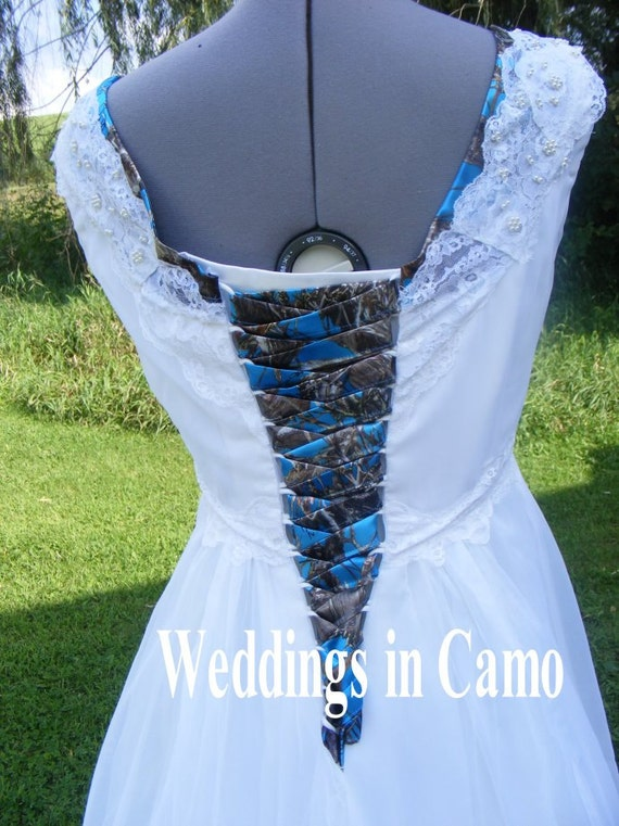 CAMO CORSET TIES Camo wedding dresscamo prom dress