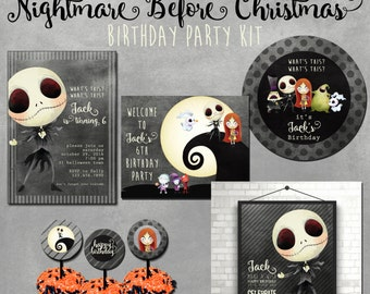 Nightmare Before Christmas Party, Choose your own party kit