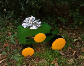 Fathers Day Sale - Recycled Metal Green Tractor