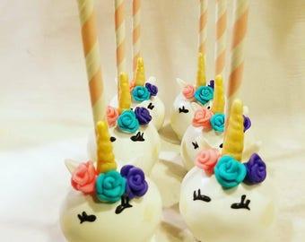 Unicorn Cake pops (order of 13)