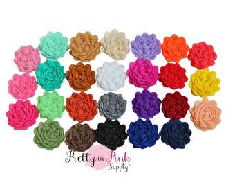 "1"" Mini Felt Flowers- You Choose Quantity- Diy Headband Supplies- Flower- Wholesale- Supply Shop"