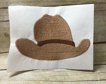Cowboy Hat Embroidery Design, Cowboy Hat Design, Western Hat Embroidery Design