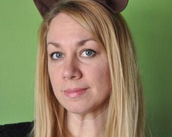 Flannel Animal Ear Barrettes