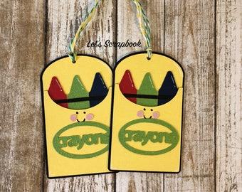 Crayon Gift Tags, Gift Tags, Teacher Gift, Crayons, Teacher, Teacher Appreciation, Thank You Gift, Tags, Gift For Teacher, Teacher Gift Tags