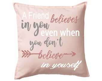 Gift for a Friend - Friendship Pillow - Friend Gift - Personalized Gift Pillow - Home Decor - Gift - Pillow - Custom Pillow for a friend -