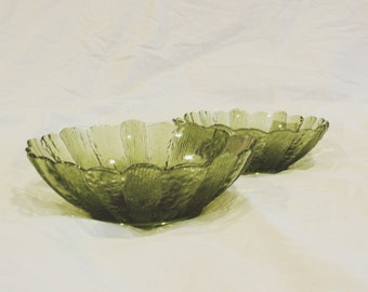 1970s vintage green bowls