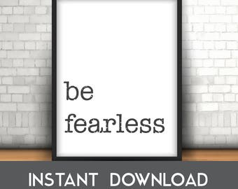Be Fearless Poster