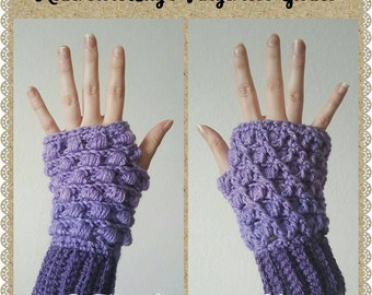 Reversible Lily's Fingerless Gloves Crochet Pattern *PDF FILE ONLY* Instant Download