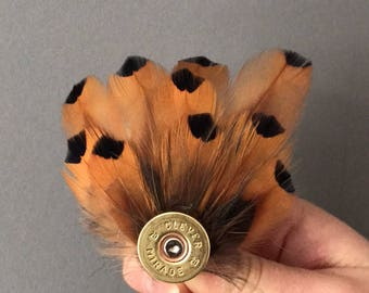 Feather pin, feather brooch