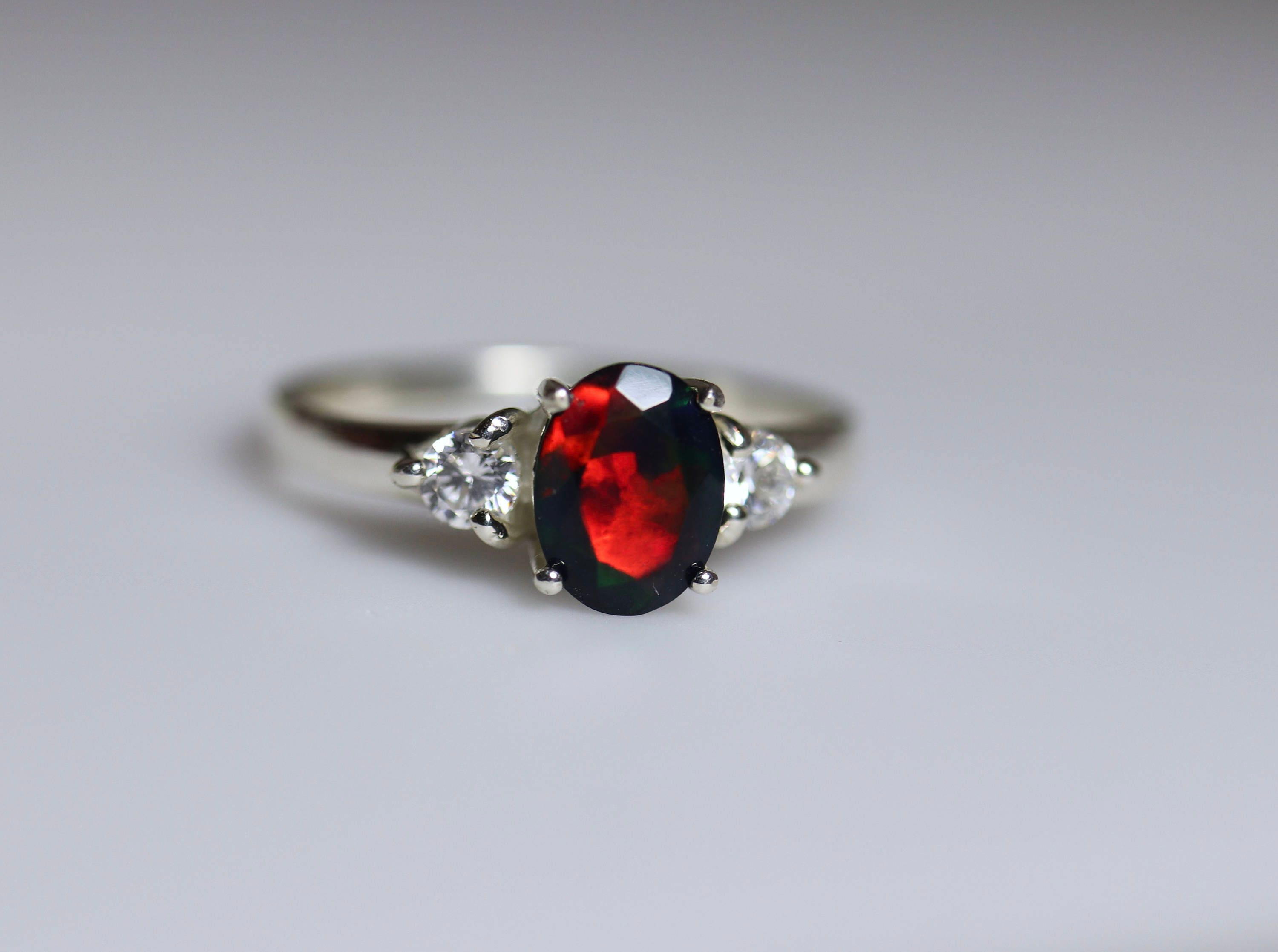 engagement rings img black opal diamond ring