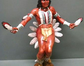 SALE!!!Sun Dancer--Native American Indian Figurine--Heirloom Quality--Hand-painted Ceramic--Home Decor--Native American Art