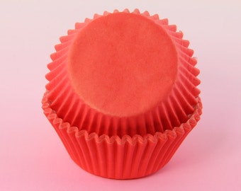 Red Cupcake Liners Bulk 2'' Standard Size, Baking Cups, Muffins