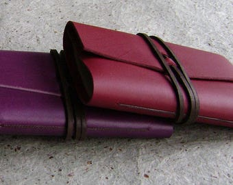 "Slim leather journals, 4"" x 5"", memo pads, pocket sketchbooks, mini notepads  (2875)"